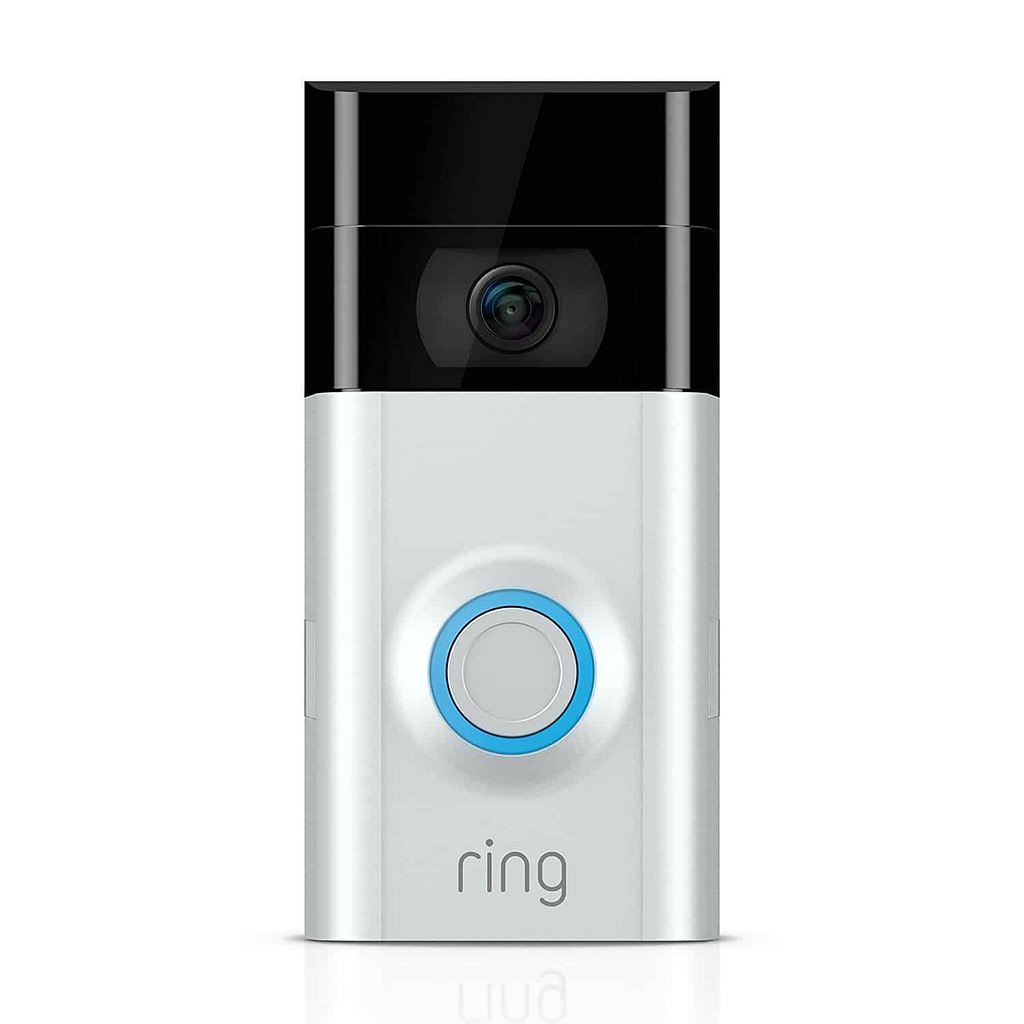 A frontal view of the Ring Video Doorbell 2.
