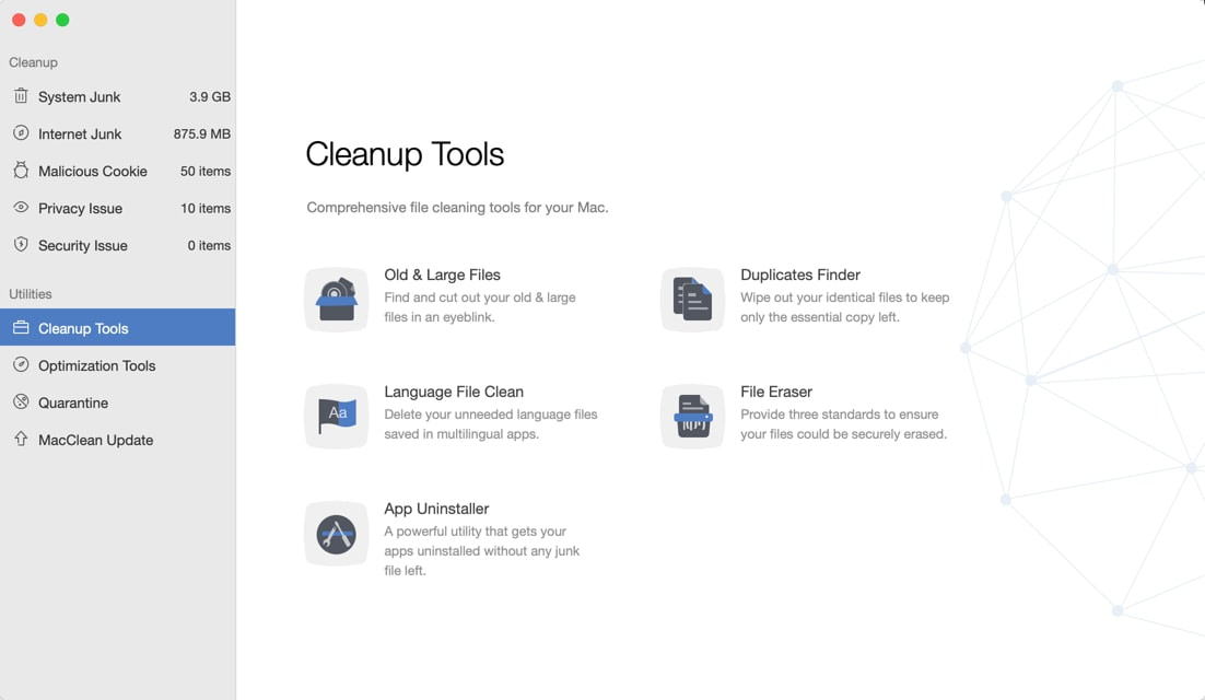 MacClean Cleanup Tools