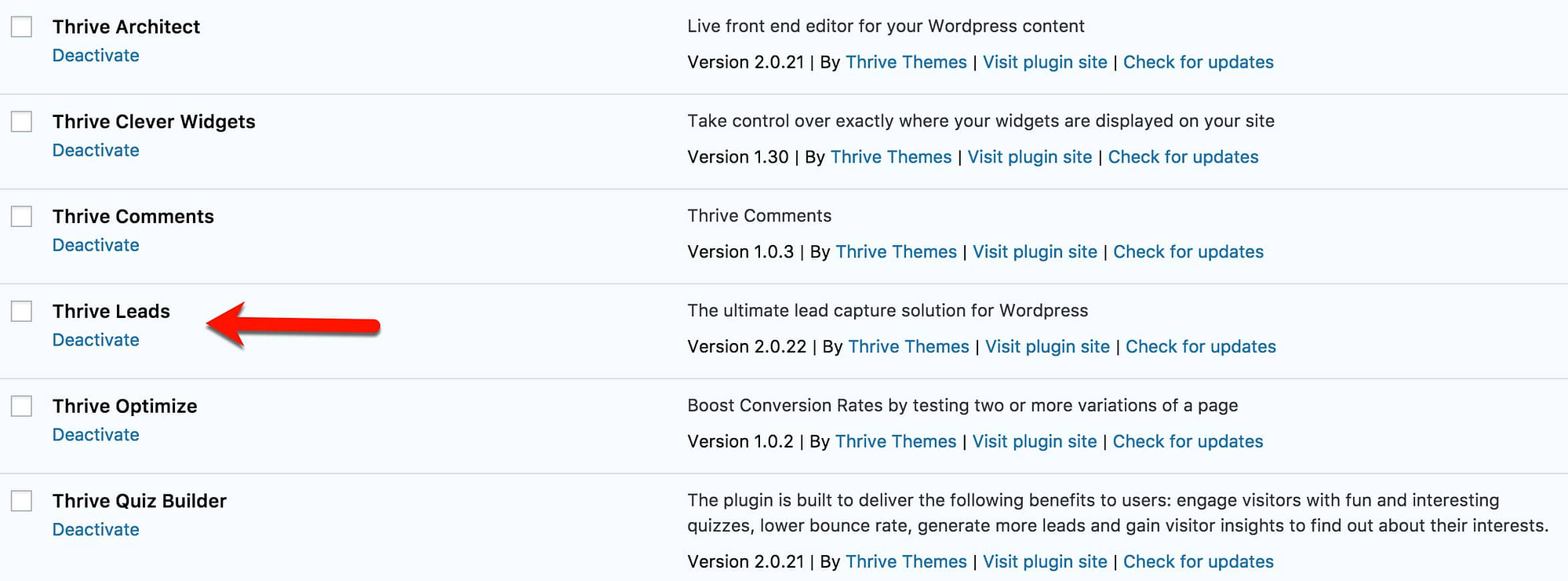 The plugins from Thrive that we have installed at TheTechReviewer.com