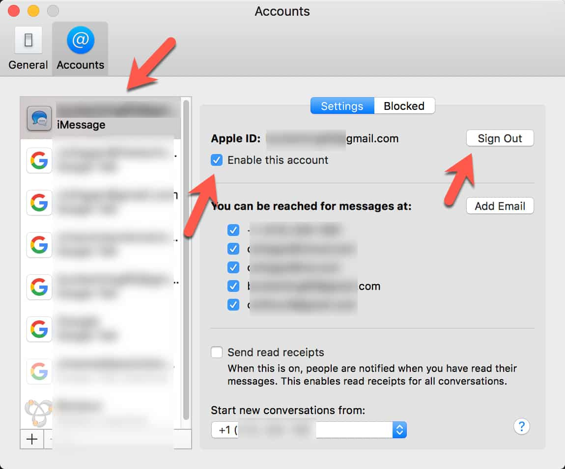 Removing iMessage Account From Mac