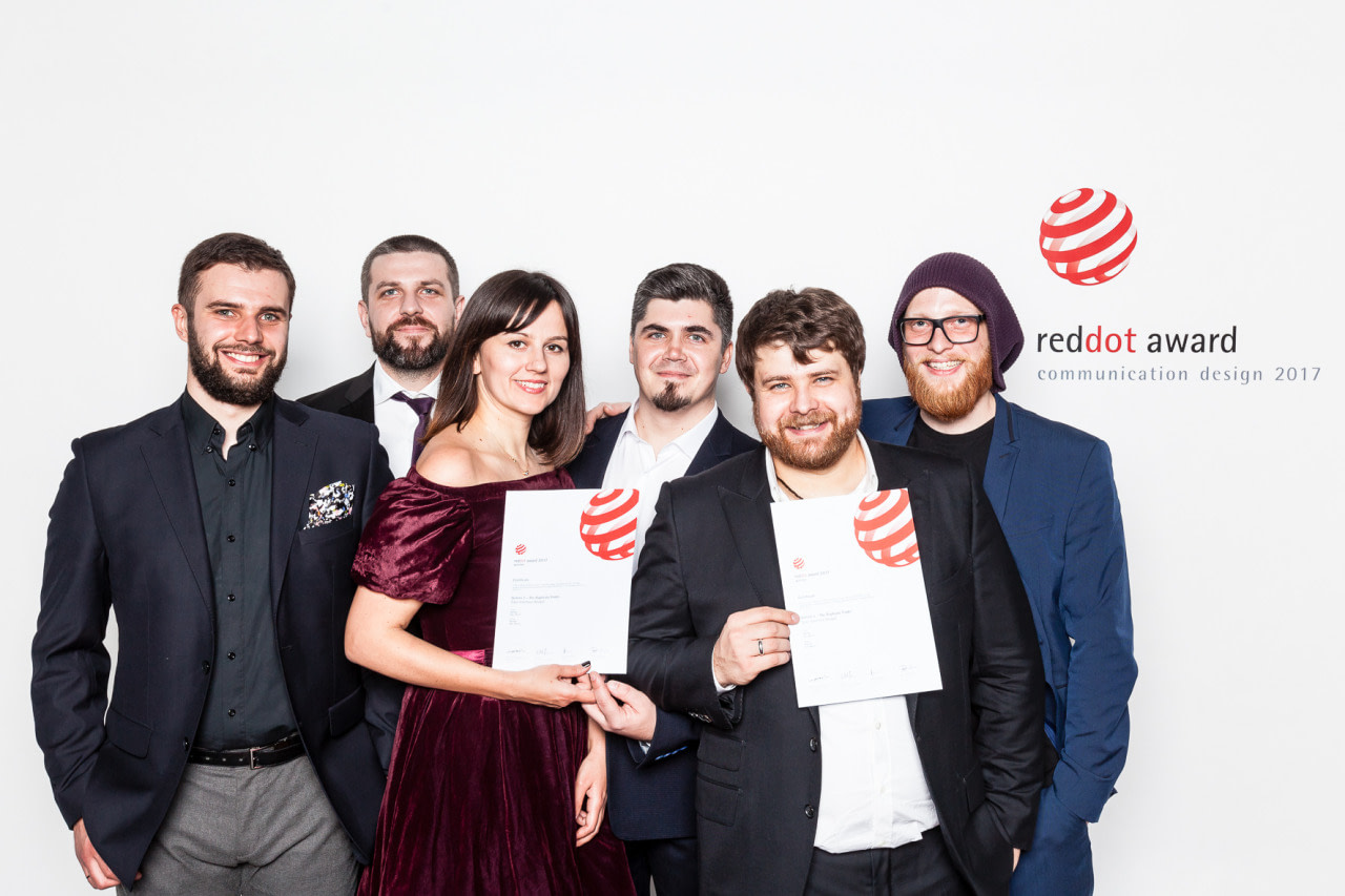 MacPaw team with reddot award