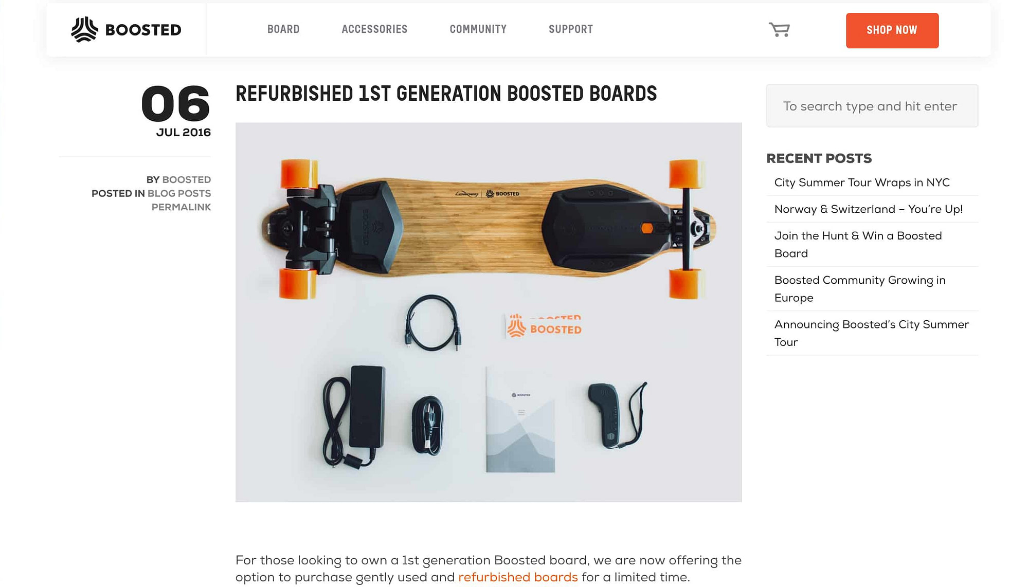Buy Used Boosted Board - Boosted Boards