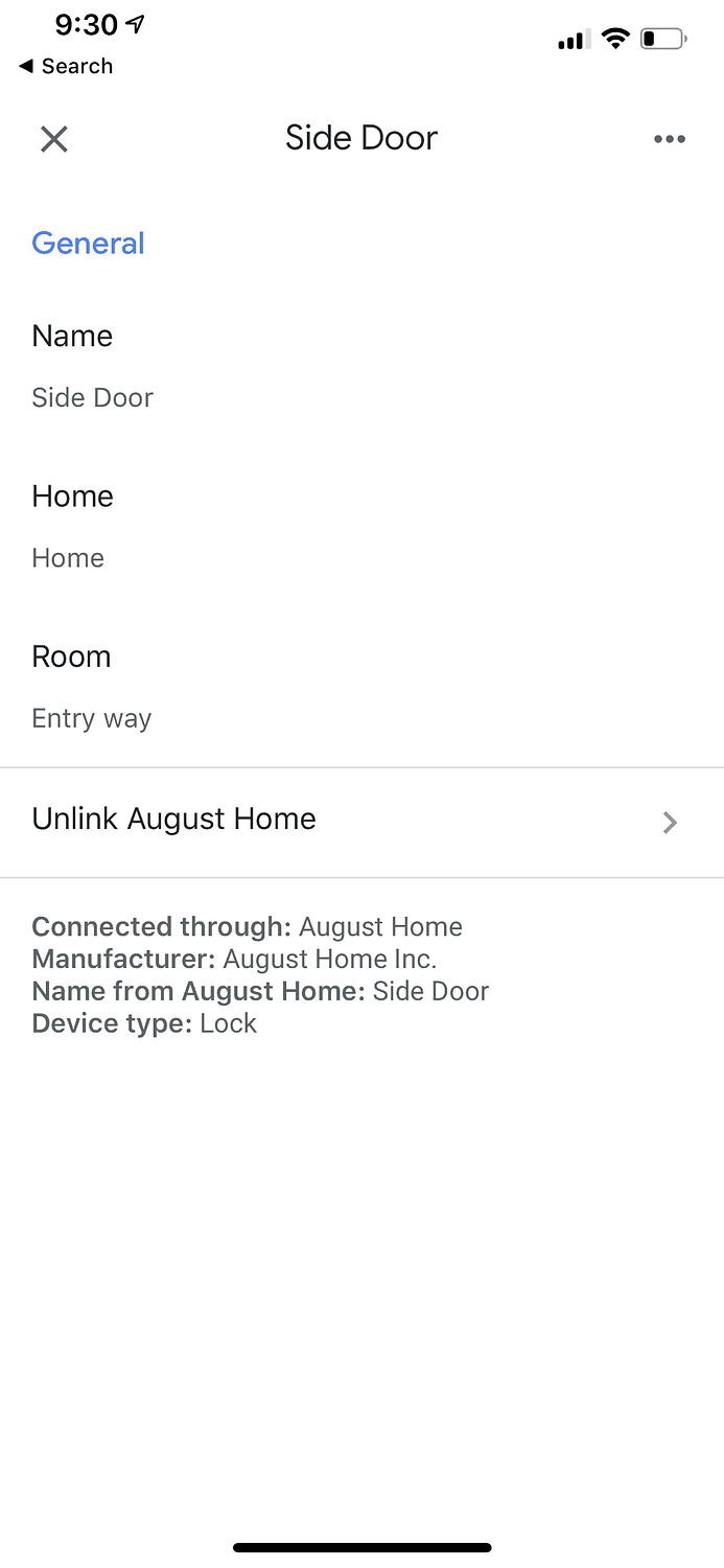Google Assistant August Lock Setup