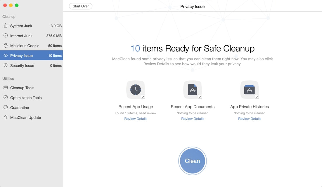 MacClean Privacy Issue