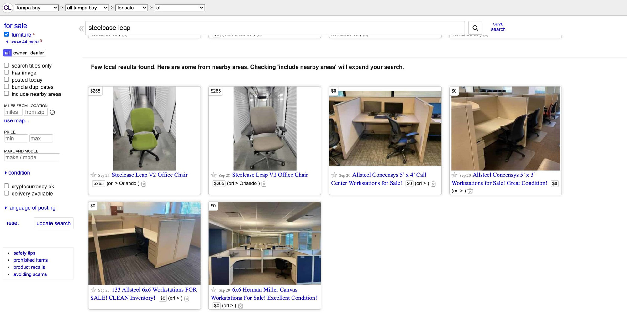 Craigslist Steelcase Leap Preowned scaled