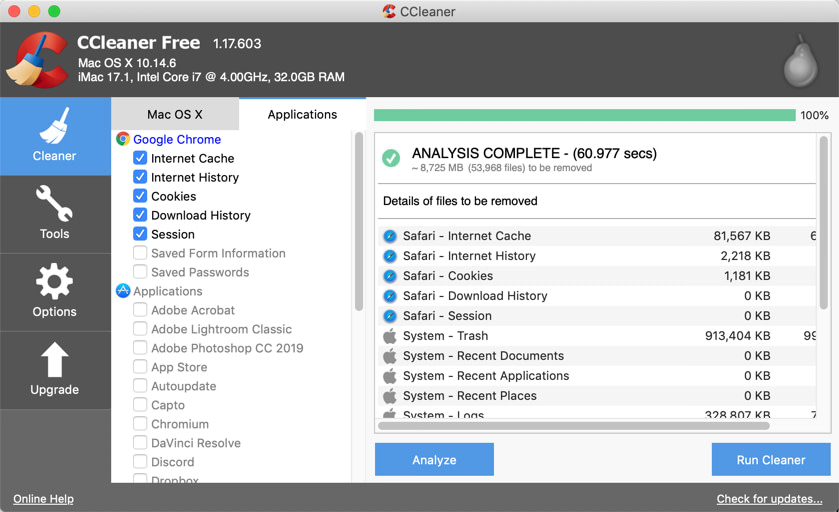 ccleaner results