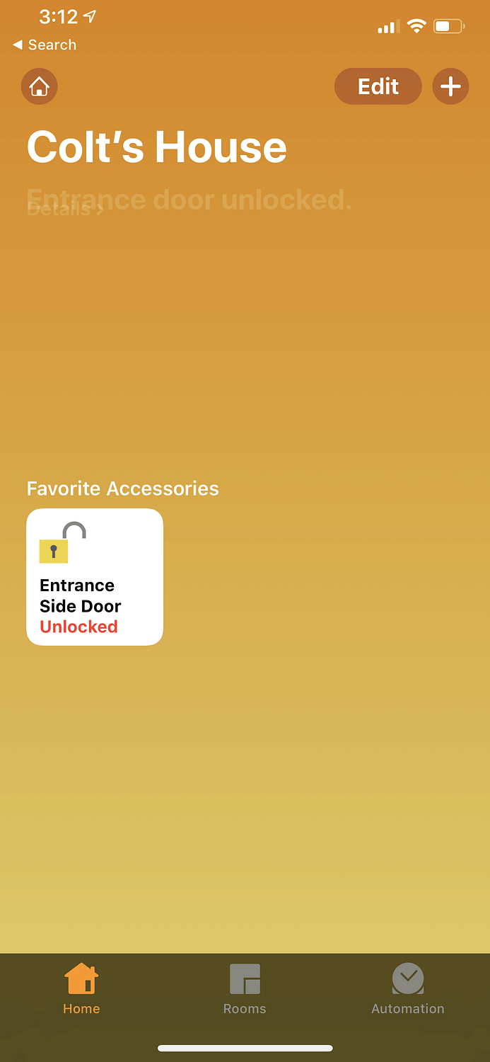 Apple Homekit August Lock Working