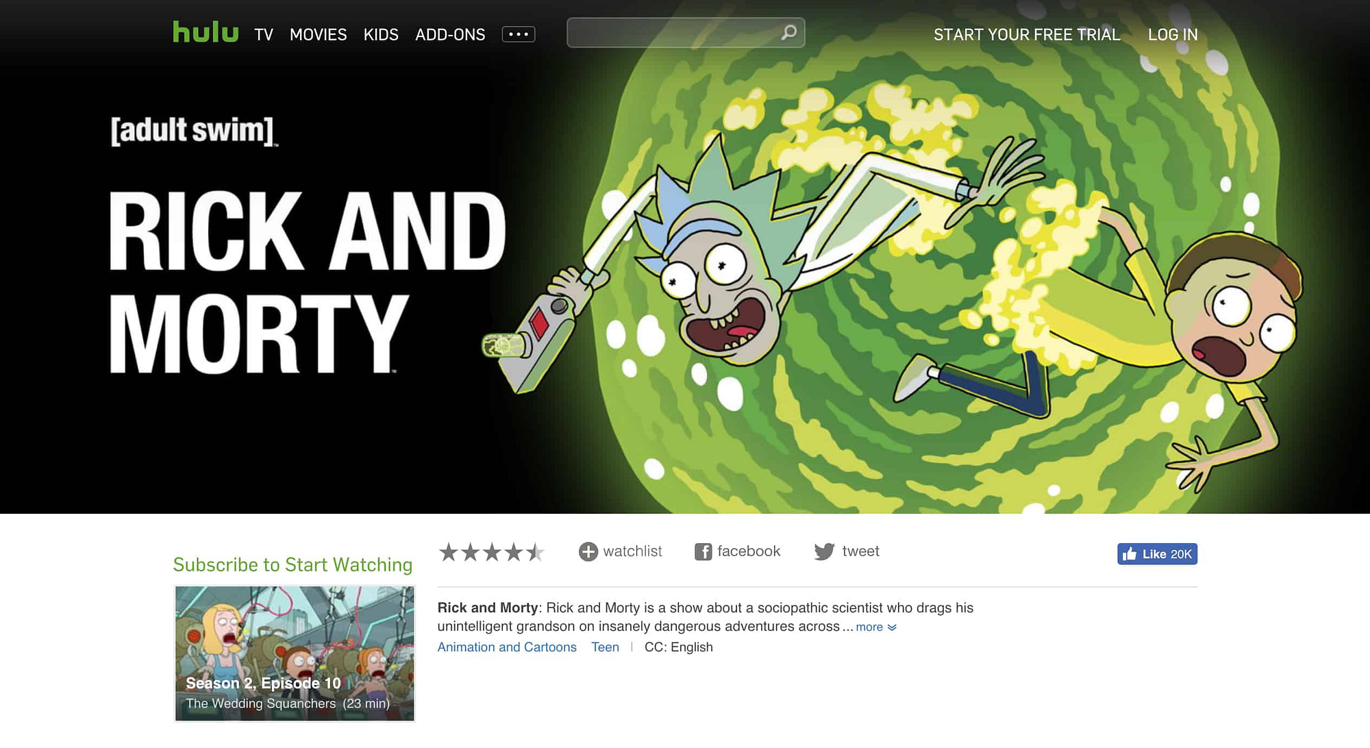 Rick & Morty Hulu On-Demand