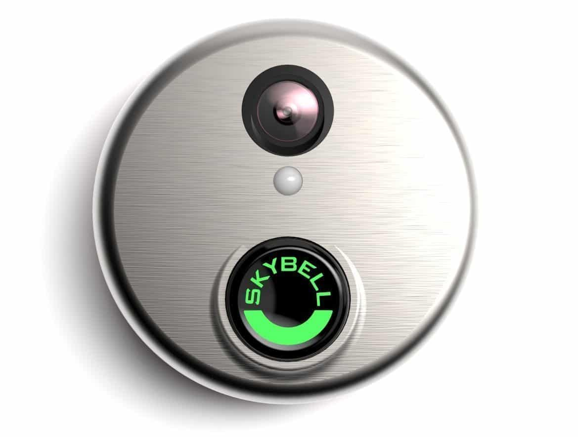A forward-facing view of the Skybell HD Video Doorbell.