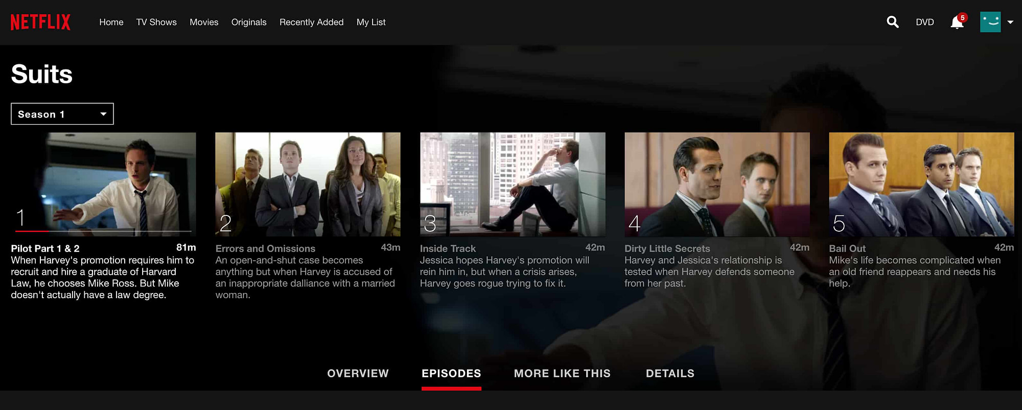 Is suits on netflix