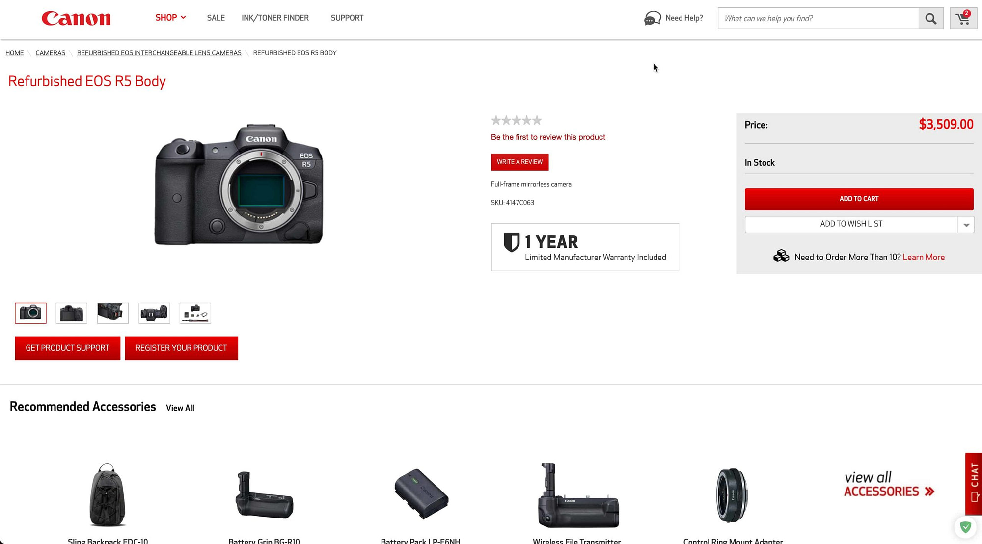 EOS R5 Refurbished Canon USA scaled