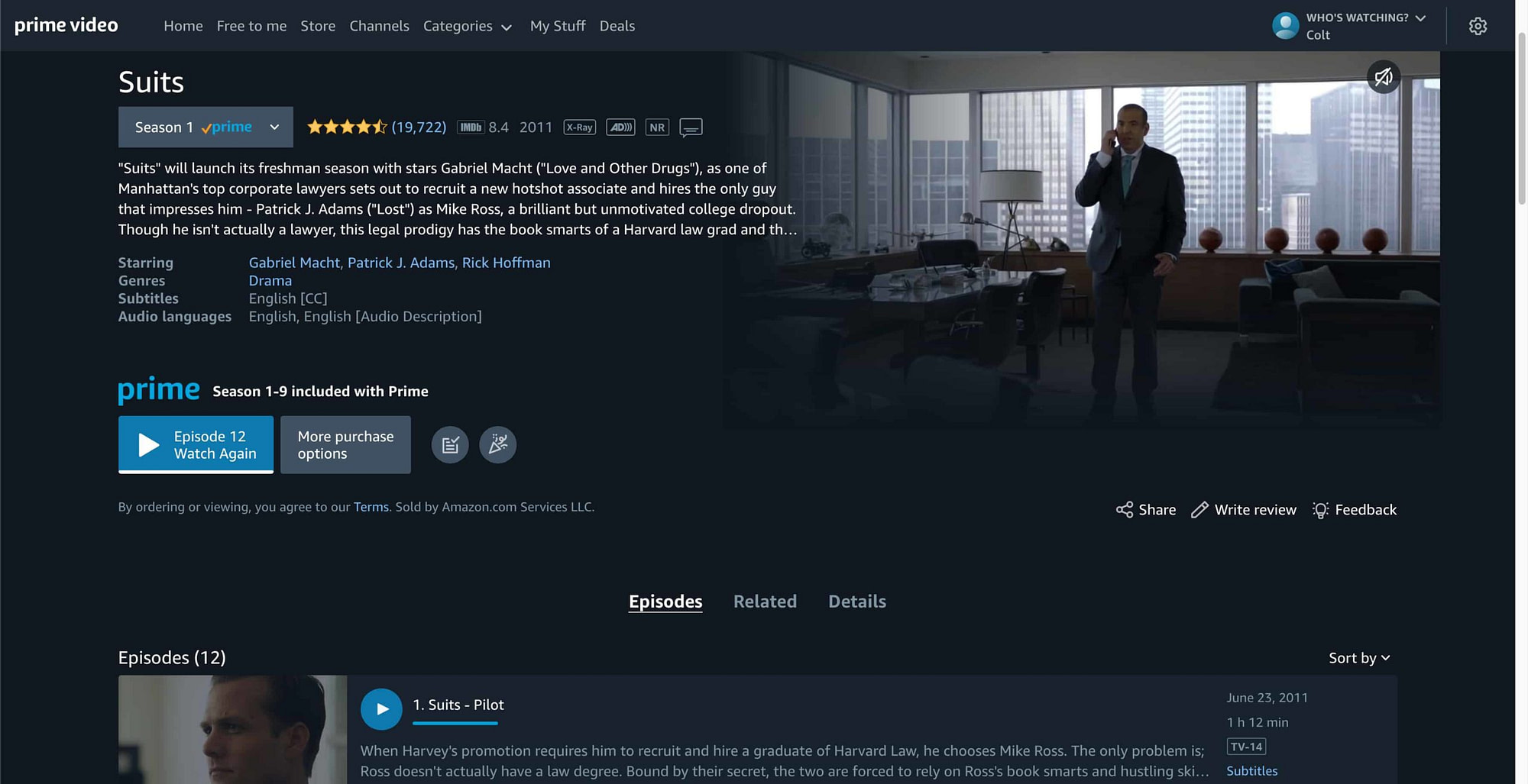 Suits On Amazon Prime scaled