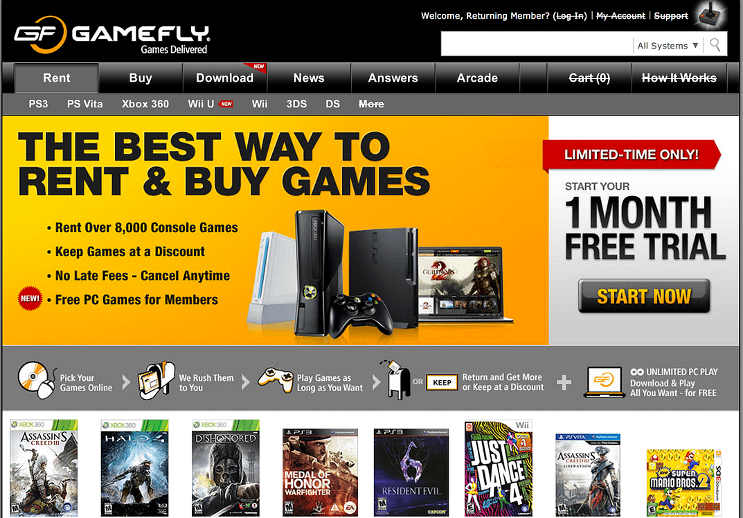 GameFly Online Video Game Rental Service Review - Worth The