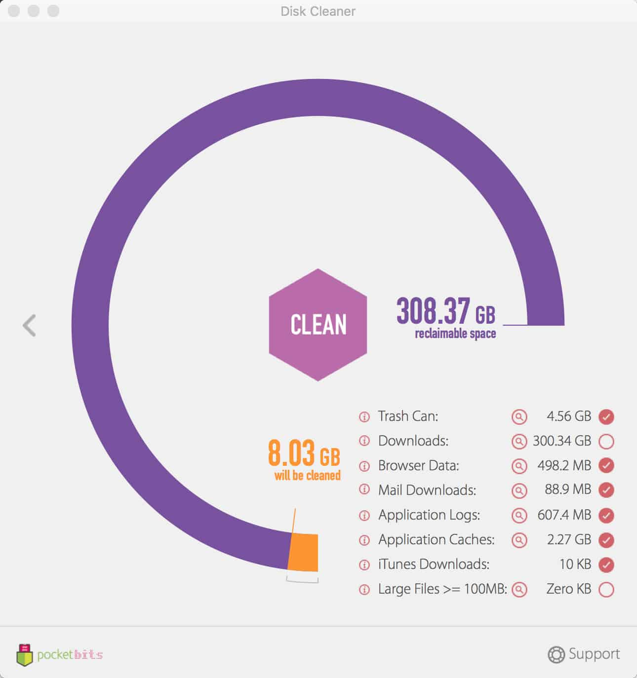 Disk Cleaner Results