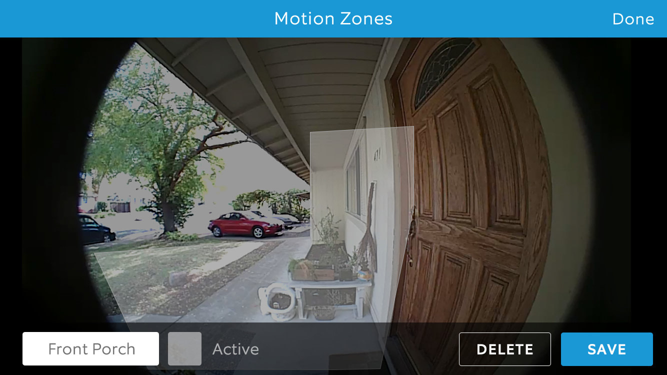 Ring Doorbell Pro Motion Zone