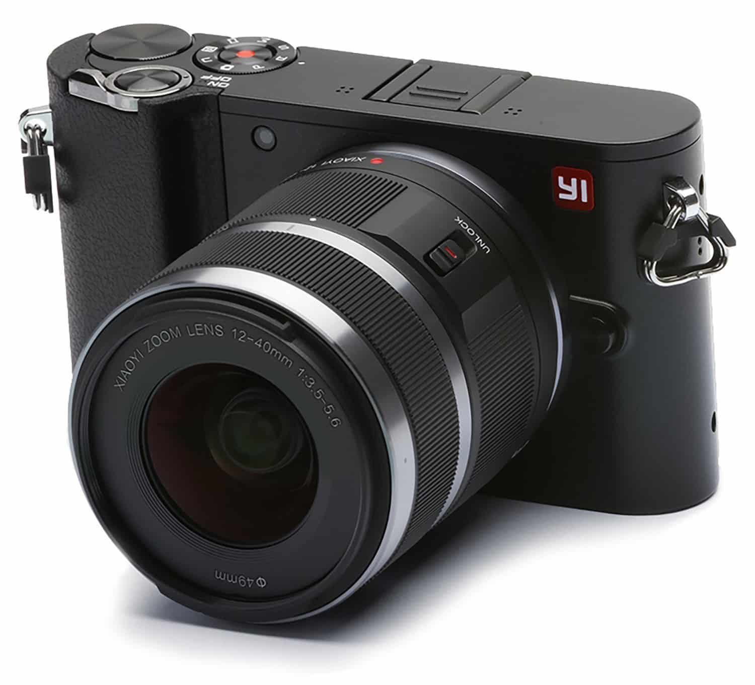 A front look at the Ti M1 mirrorless camera with lens.