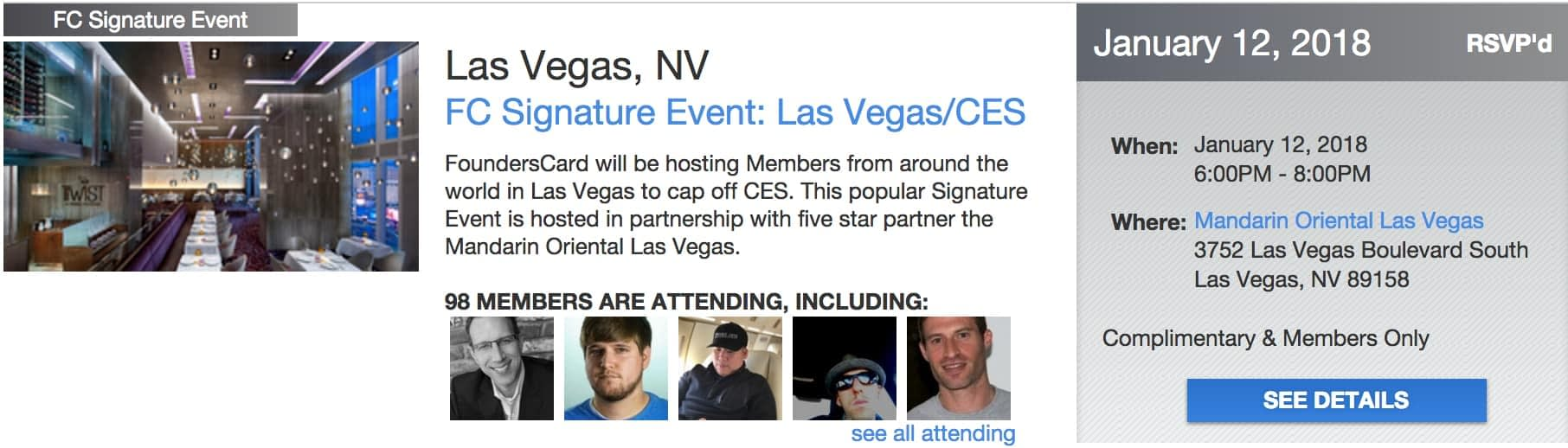 Founders Card Event - CES 2018