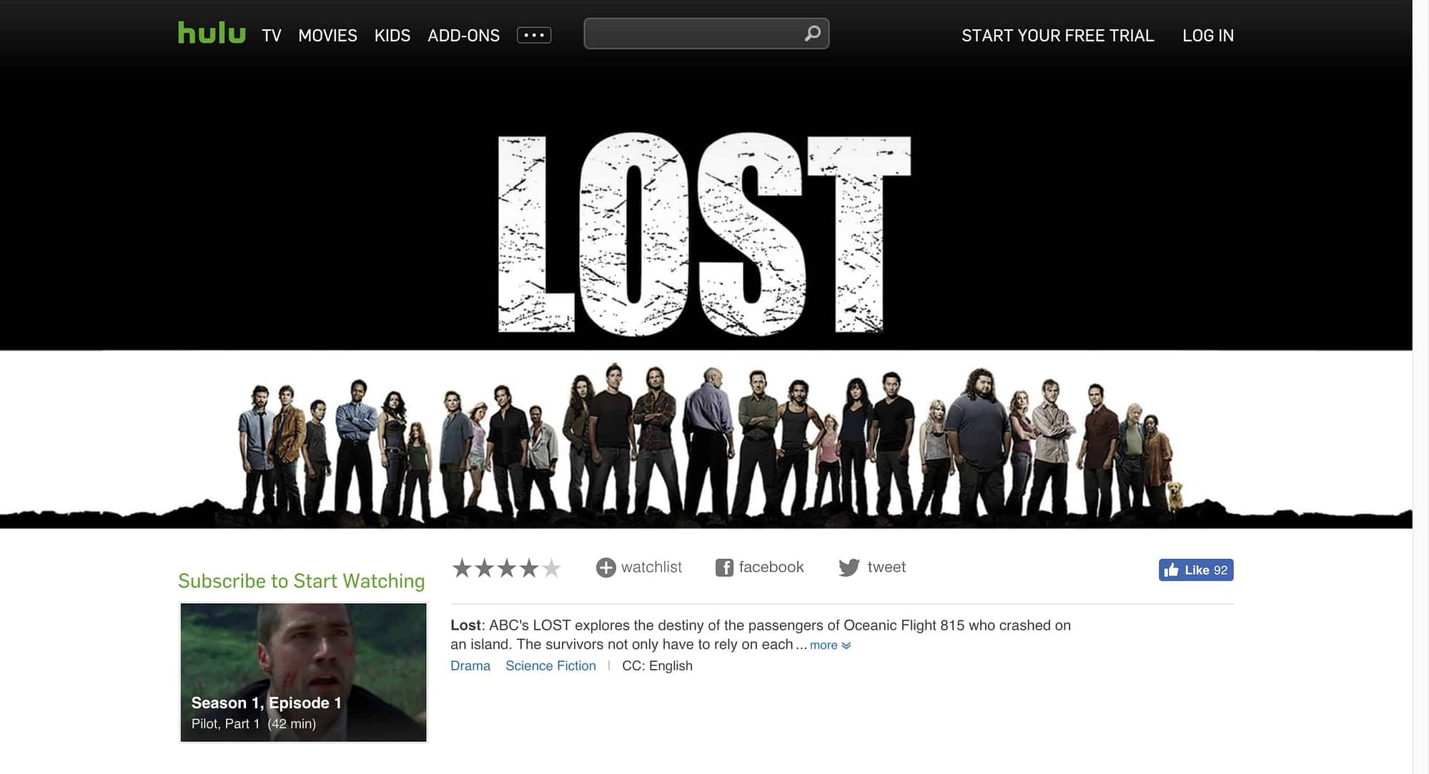 how to watch lost