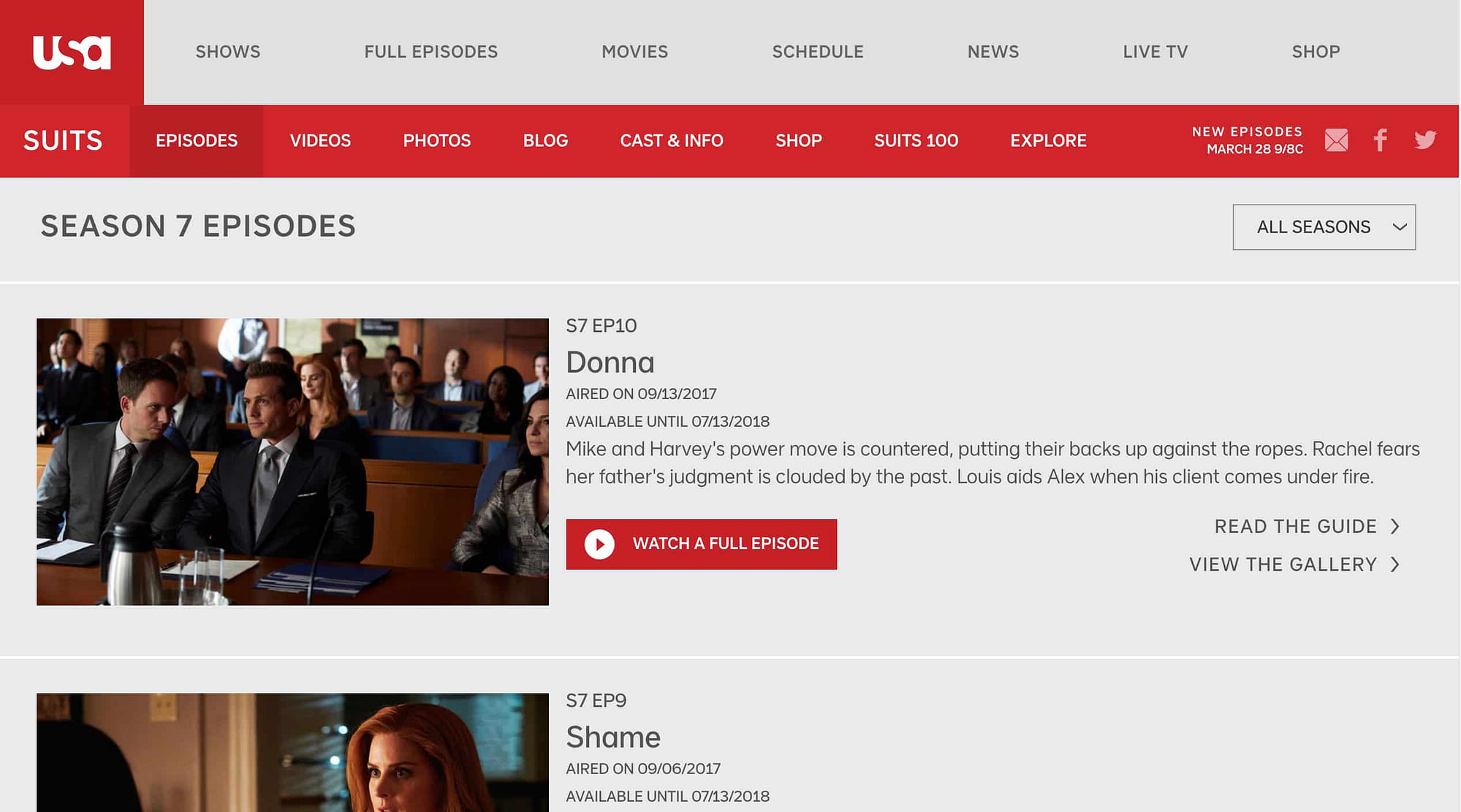 USA - suits watch online