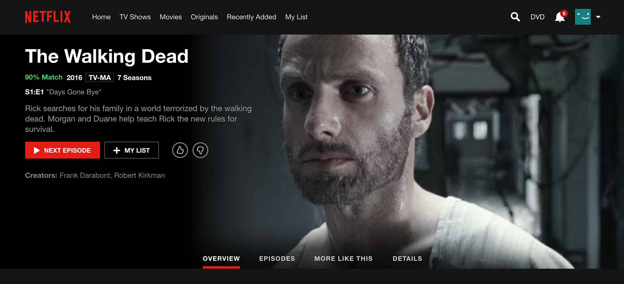 Netflix TWD Splash Screen