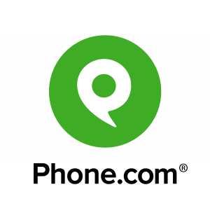 The logo and trademark of the Phone.com phone service.