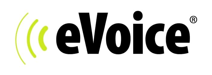 The logo and trademark for the eVoice phone system