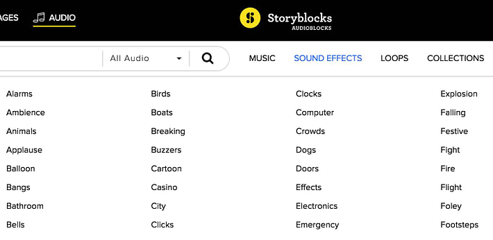 Sound Effects - Audio Blocks Subscription